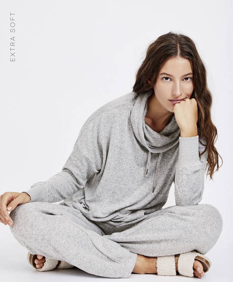 Extra-soft roll neck jumper