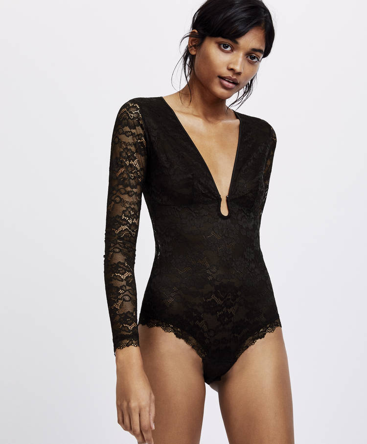 213dff1e1f5 Essential Lace basic bodysuit - New In - Lingerie