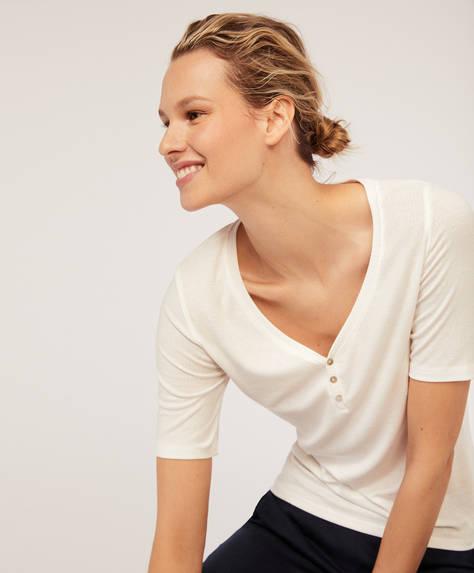 T-shirt manches courtes bord côte