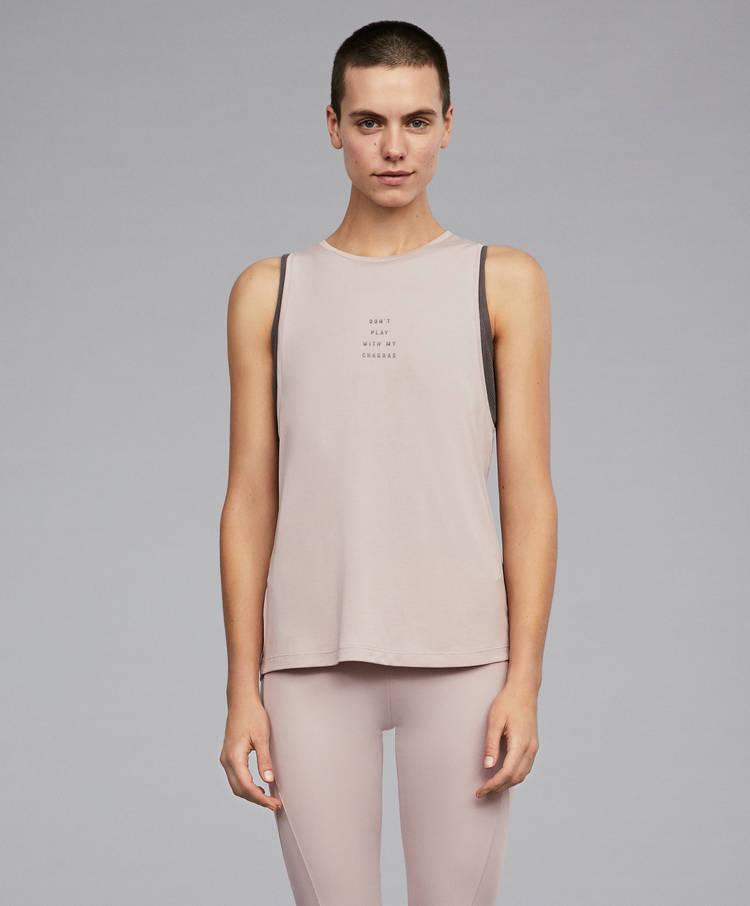 c9ba96dbb963 Διπλή μπλούζα με μήνυμα. - Τιράντες - Μπλούζες - Ανά προϊόν - OYSHO ...
