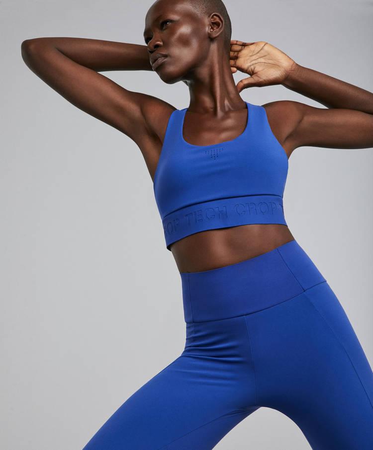 21da1fff20 Slogan sports bra - Sport bras - By Products - OYSHO SPORT | Oysho ...