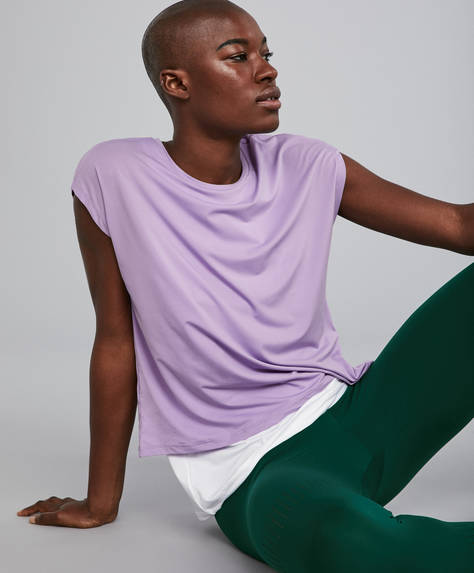 Mauve double T-shirt
