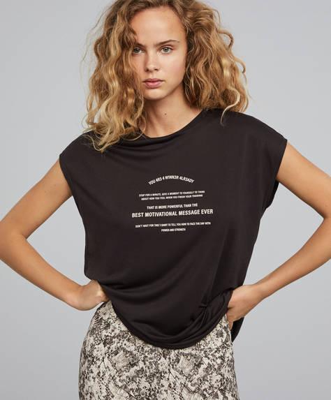 Tencel™ slogan T-shirt