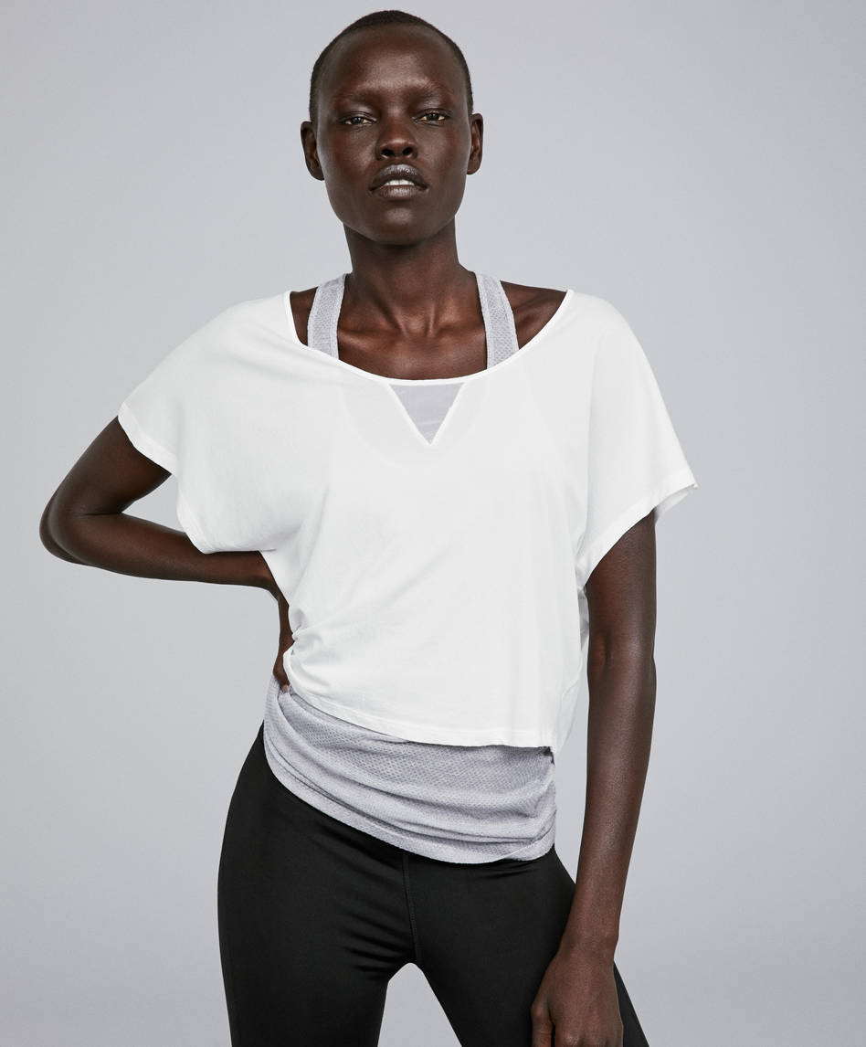 6a40cab06daa9 Double-layer recycled polyamide T-shirt