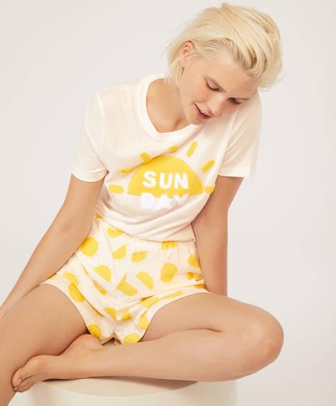 Korte broek met zonnetjes