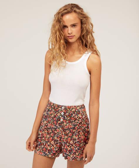 Shorts mit verspieltem Blumenprint