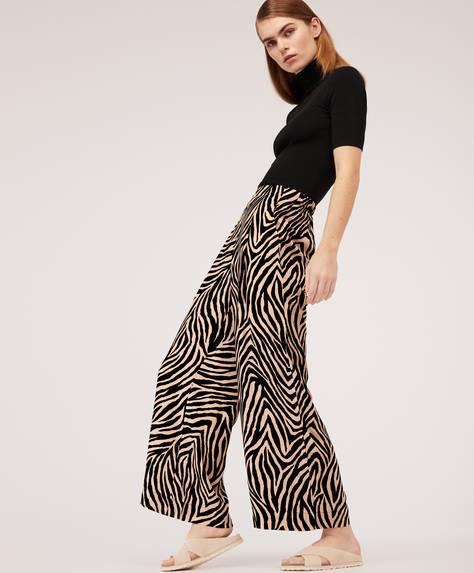 Pantalones estampado zebra