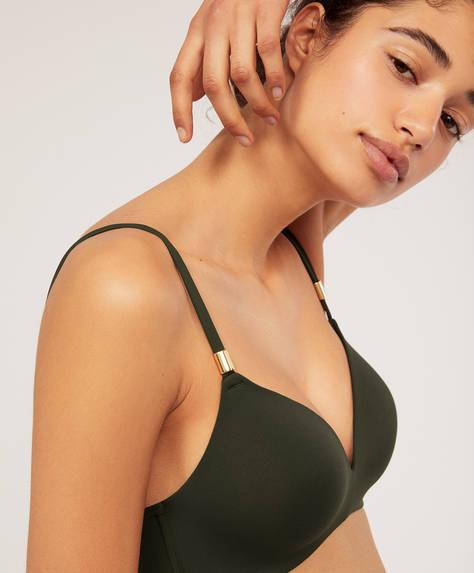 Triangular bikini top