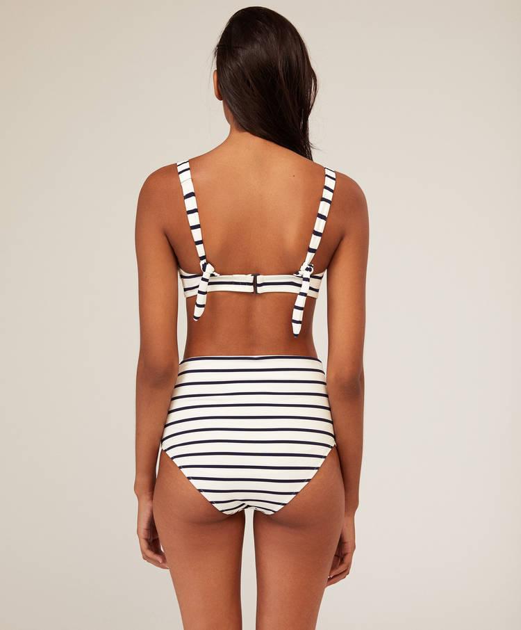 1b06353fbba62 Haut de maillot triangle rayures - Bikini - Bain et beachwear   Oysho