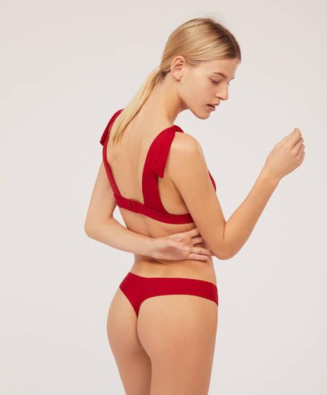 Plain bikini thong