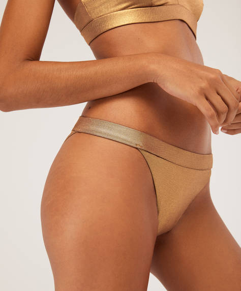 Brazilian gold bikini briefs