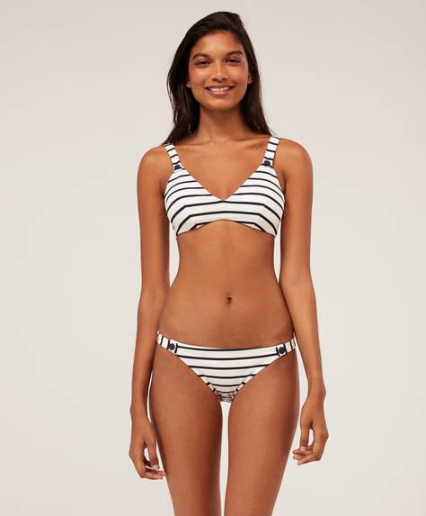 Klassisches Bikinihöschen mit Streifen