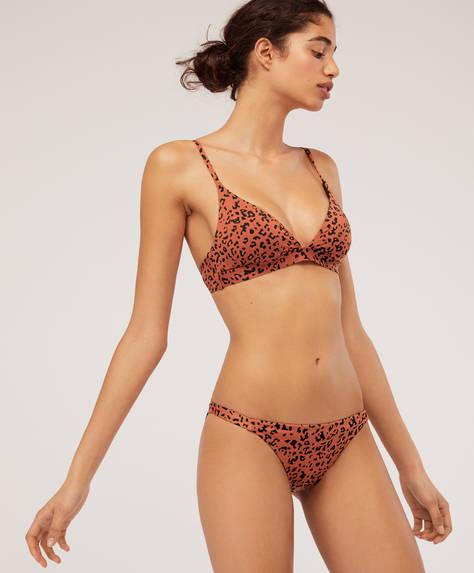 Leopardmönstrad bikinitrosa i klassisk modell