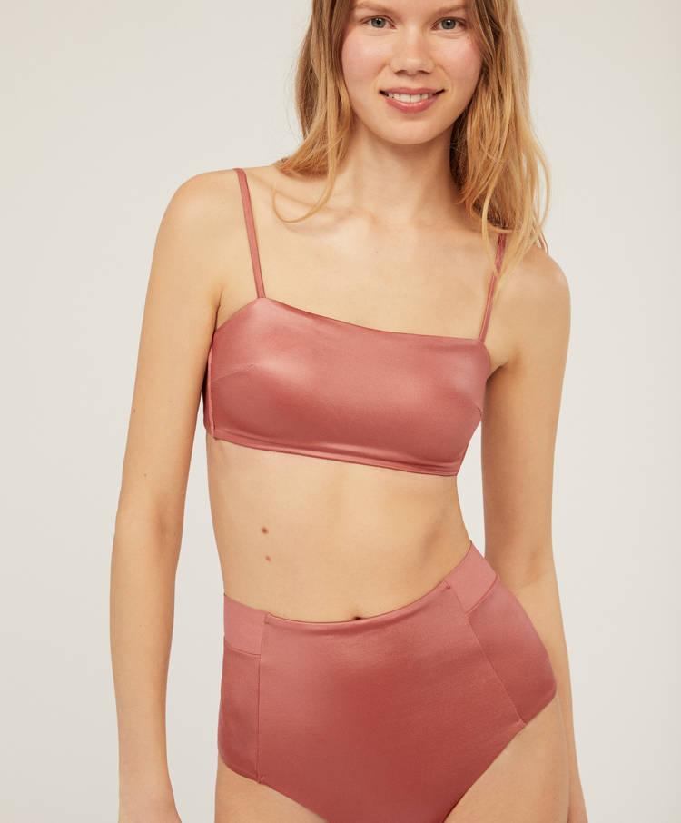dadb5963a9 Wet-look high-waisted Brazilian bikini briefs - High-rise - Bikini ...