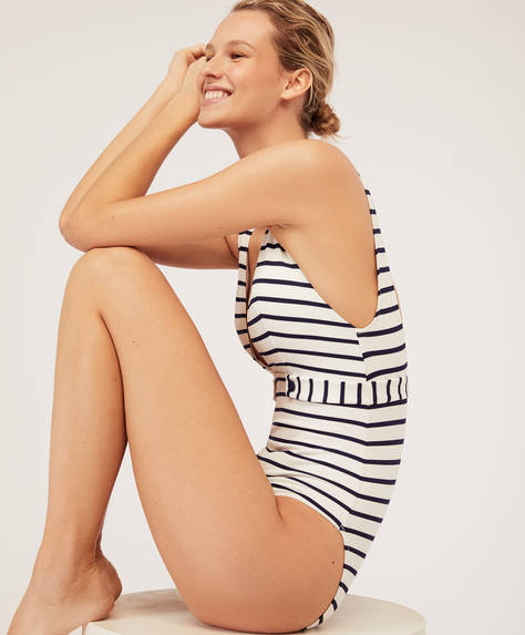 Stripe triangle bathing suit