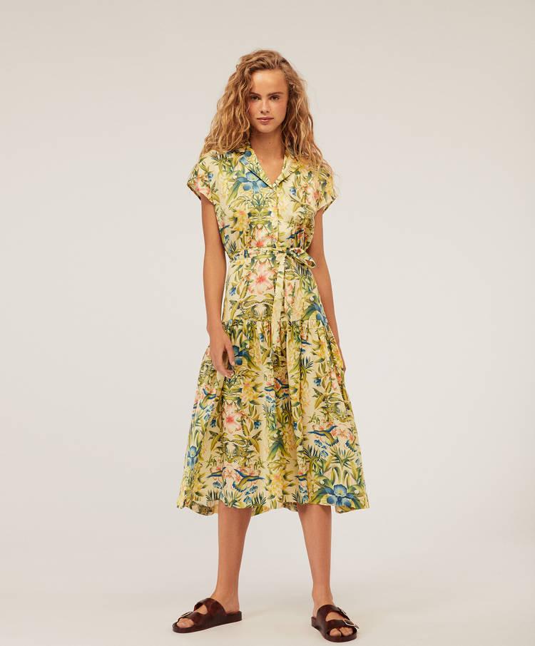 5129b0d8a20 Robe longue motifs colibris - Robes et jupes - Bain et beachwear