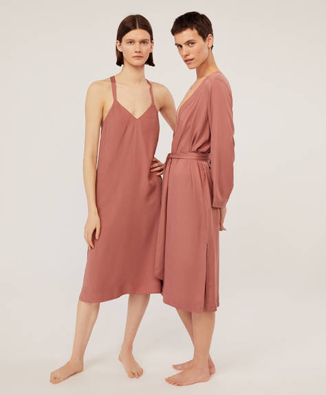 Terracotta ions bath robe