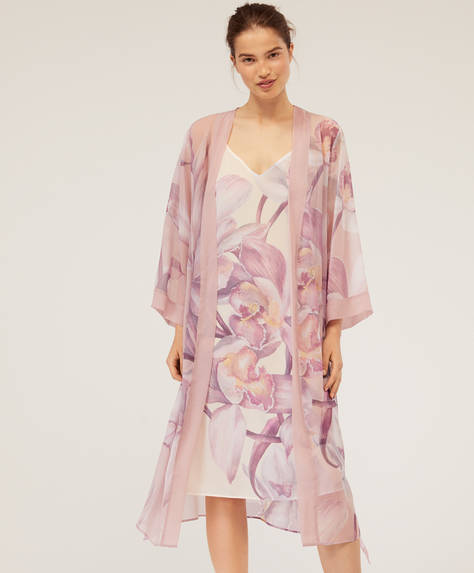 Orchid bath robe