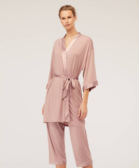 Plain modal bath robe