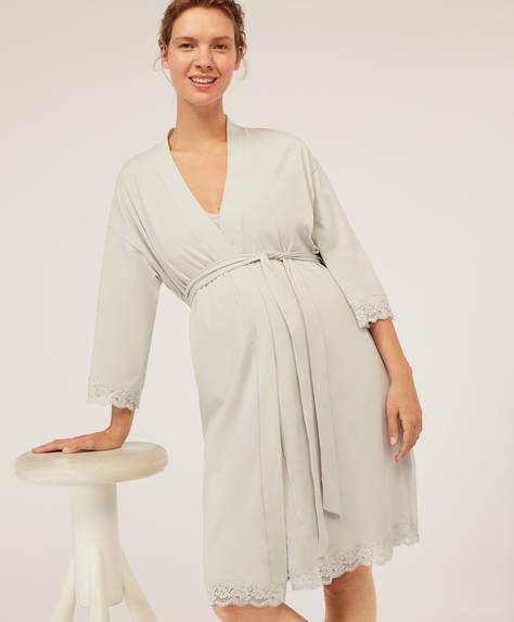 Cotton maternity kimono