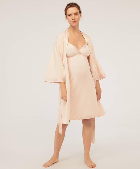 Satin maternity kimono