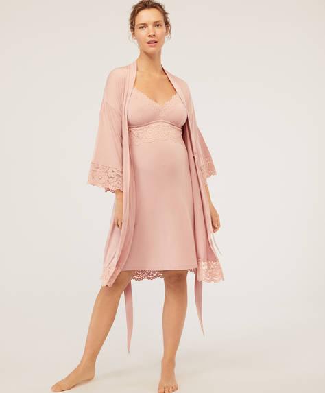 Kimono maternity modal encaje