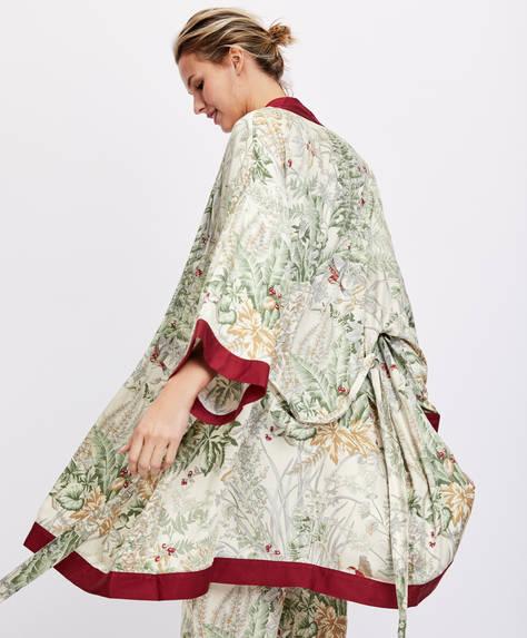 Floral bath robe