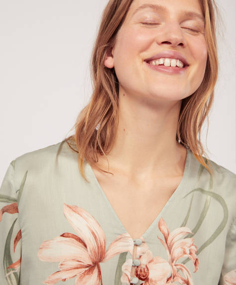 Floral orchid shirt