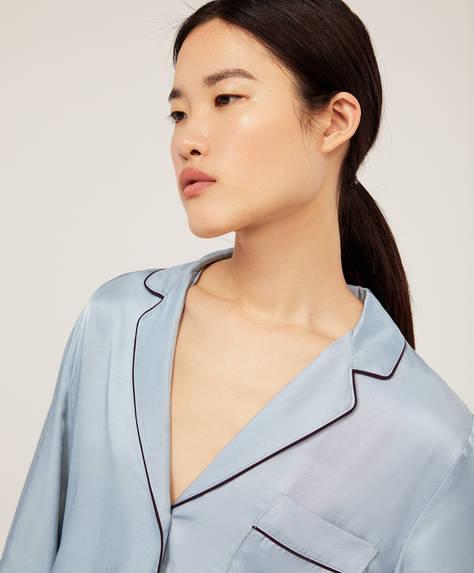 Camisa de manga larga pipping azul