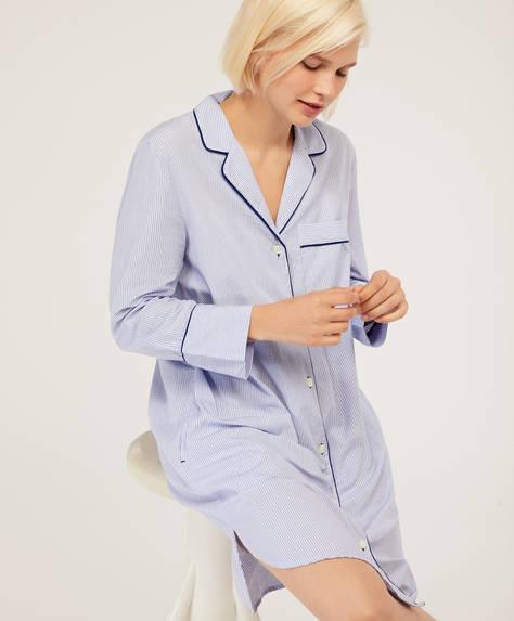 Klassisches Nachthemd aus Baumwolle