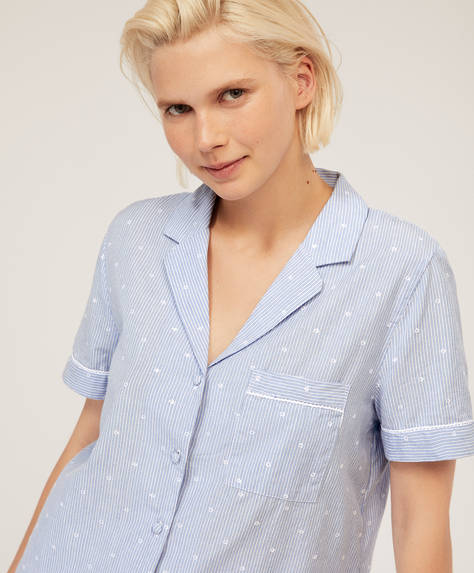 Camisa raya bordada