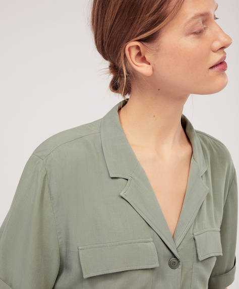 Safari shirt with pockets