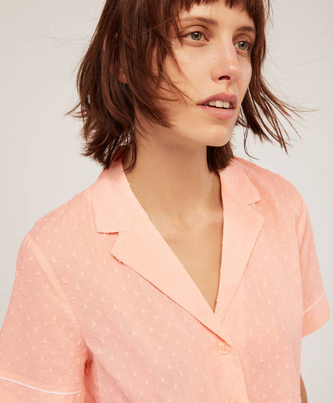 Pink cotton shirt