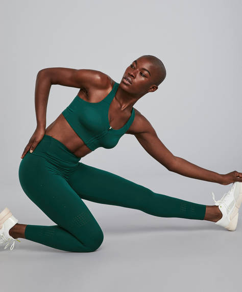 Green shapewear leggings