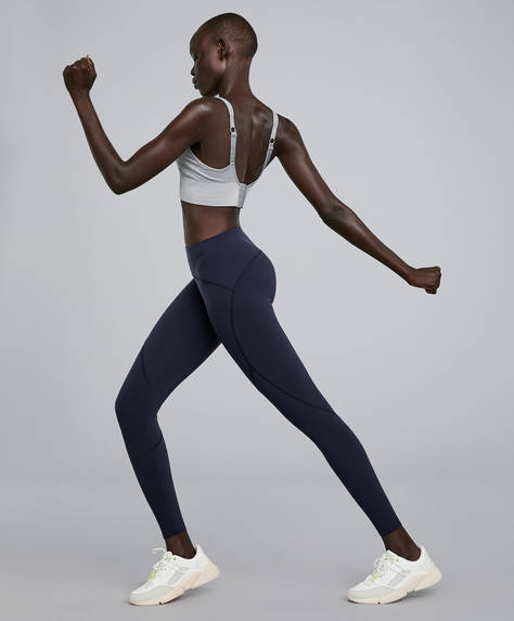Blue sculpt leggings
