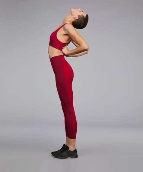 Compression block leggings