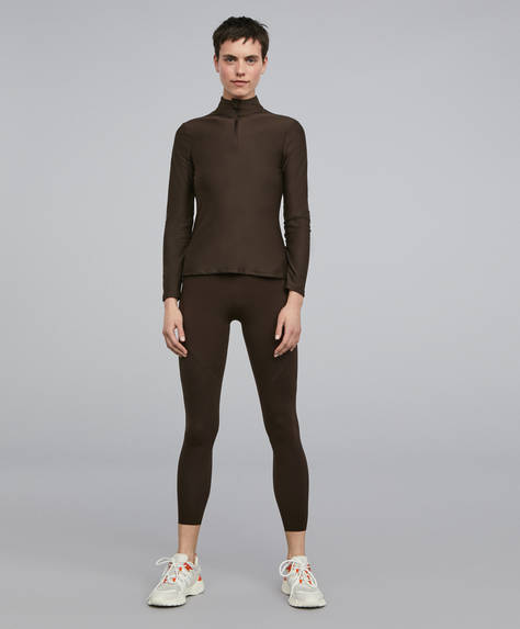 Brown shapewear leggings