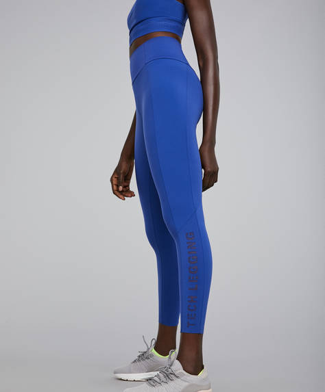 Blue shapewear leggings