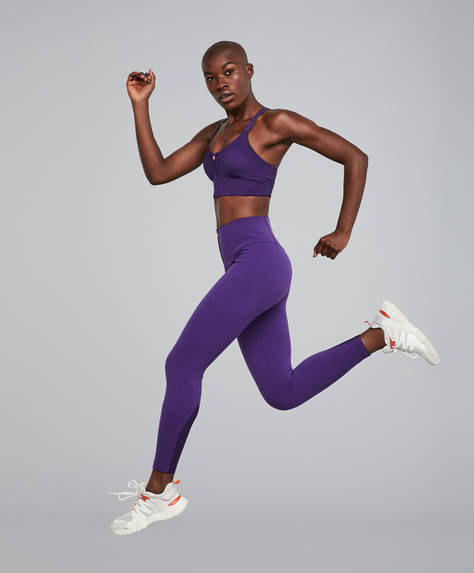Leggings sculpt morado