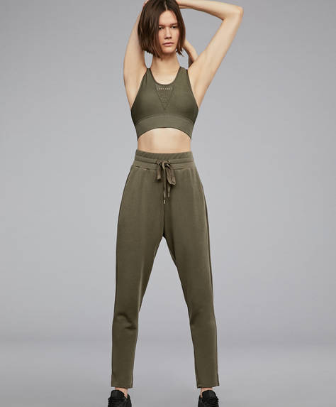 Extra-soft khaki trousers