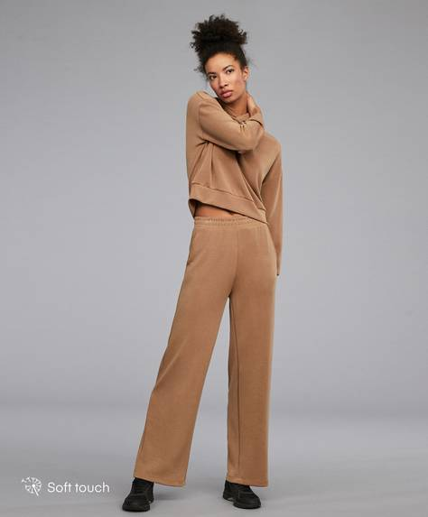 Extra-soft wide-leg trousers