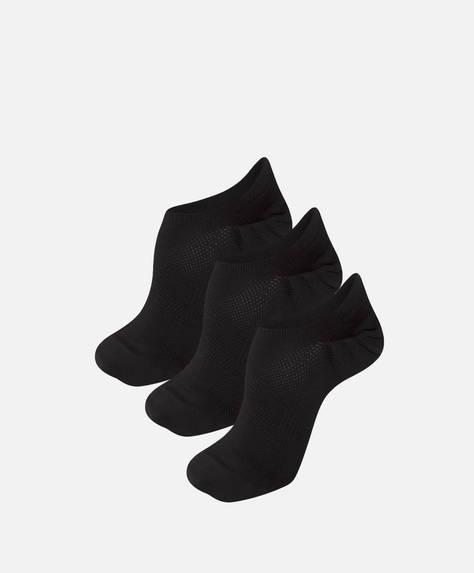3'lü siyah bilekte çorap paketi