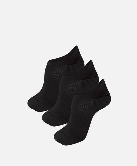 3 pairs of black ankle socks