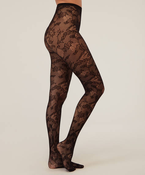 Lace tights.