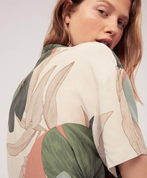 Рубашка с принтом «Пальмы»