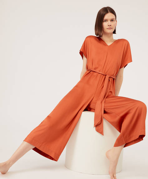 Long orange ions jumpsuit