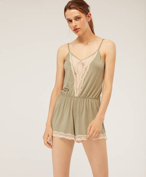 Modal leaf jumpsuit