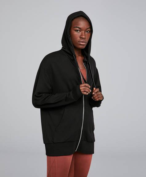 Kapüşonlu koton sweatshirt