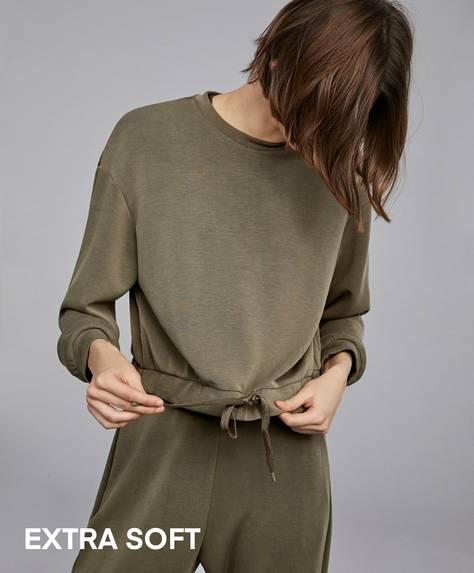 Extra-soft khaki sweatshirt