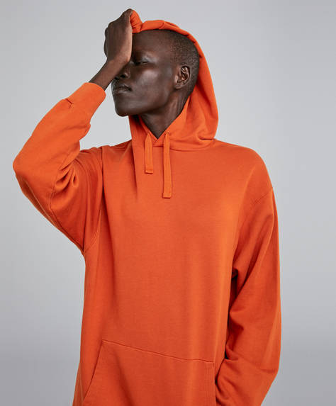 Lång orange sweatshirt